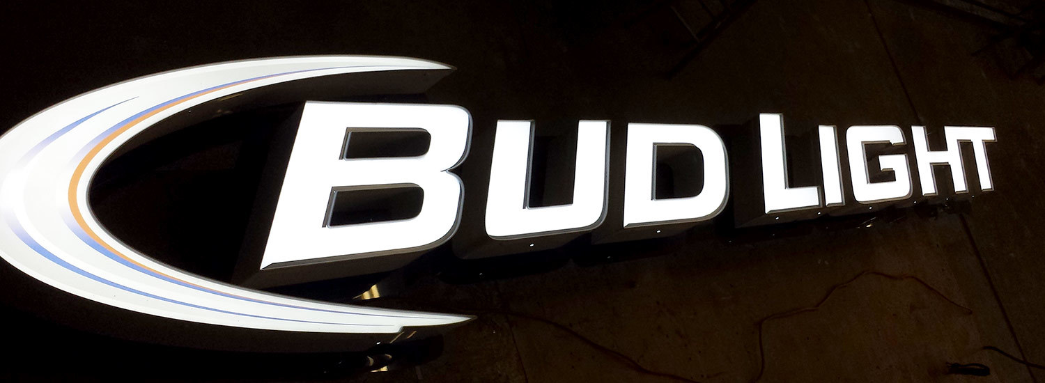 BUD-LIGHT-LED-ILLUMINATED-CHANNEL-LETTERS-ON-RACEWAY